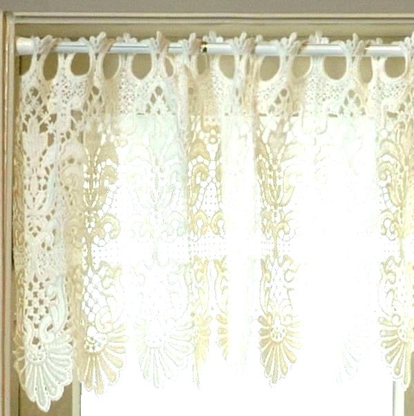 Country Curtains Lace Valance – Socialwear Within French Vanilla Country Style Curtain Parts With White Daisy Lace Accent (Image 5 of 25)