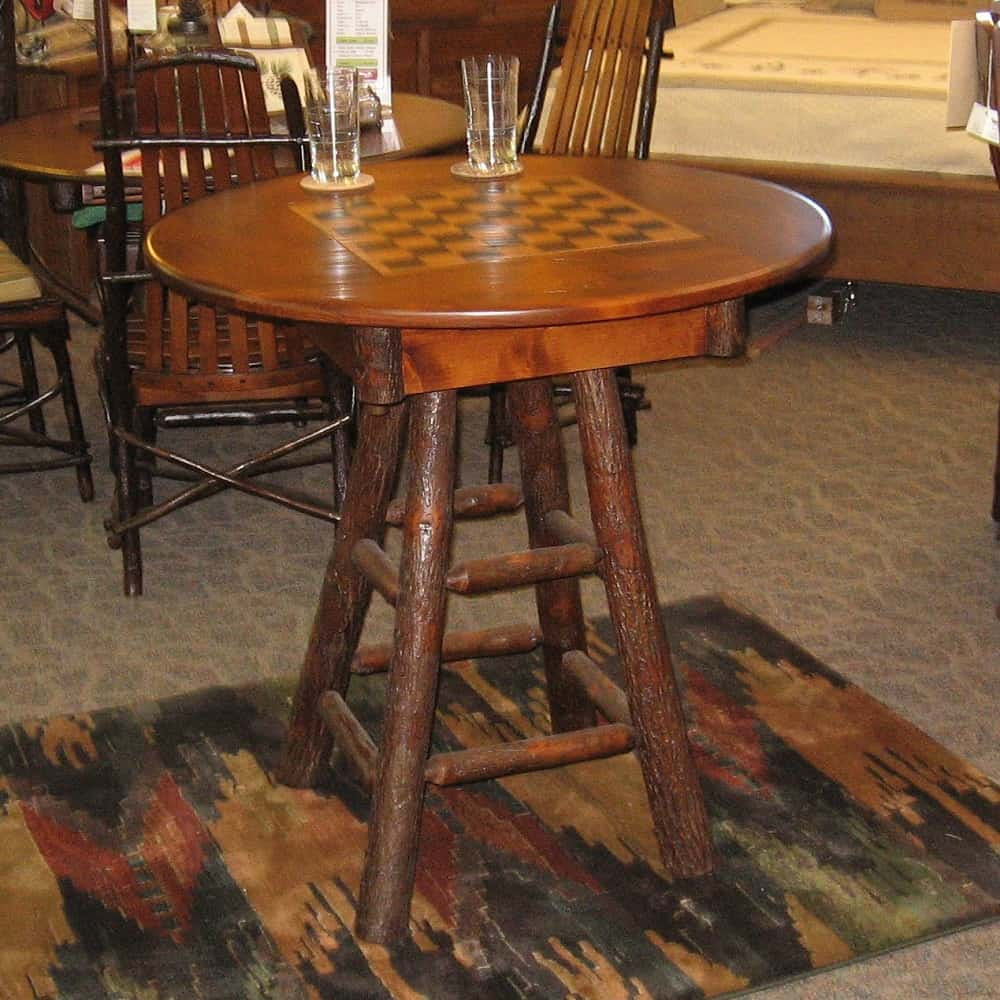 Country Delight Game Table, Shown In Hickory And Rustic Alder With A  Michael's Cherry Finish (Table Only) With Regard To Current Alder Pub Tables (Image 16 of 25)