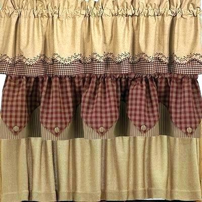 Country Kitchen Curtains – Esportevents In Primitive Kitchen Curtains (View 23 of 25)