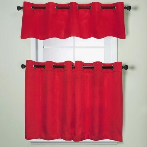 Country Red Kitchen Curtains – Camata (View 17 of 25)