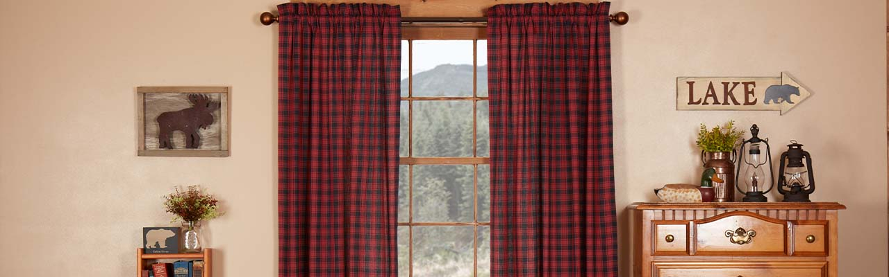Country Themed Curtains Throughout Cumberland Tier Pair Rod Pocket Cotton Buffalo Check Kitchen Curtains (View 20 of 25)