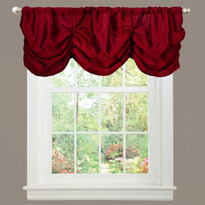 """Craner Light Filtering 42"""" Curtain Valance Throughout Luxury Light Filtering Straight Curtain Valances (Image 5 of 25)"""