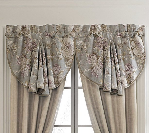 Croscill Victoria Swag Circle Window Valance, Floral Taupe Inside Circle Curtain Valances (View 16 of 25)