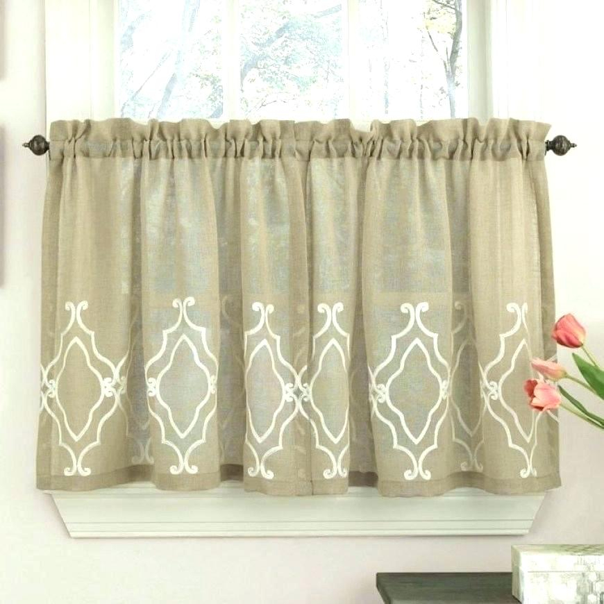 Crystal Brook Window Curtain Tier Pair And Valance In White Throughout Modern Subtle Texture Solid White Kitchen Curtain Parts With Grommets Tier And Valance Options (View 23 of 25)