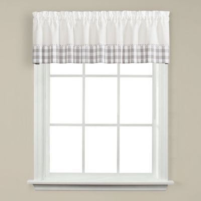 Cumberland Kichen Window Valance Grey | Products | Valance With Regard To Cumberland Tier Pairs In Dove Gray (Image 5 of 25)