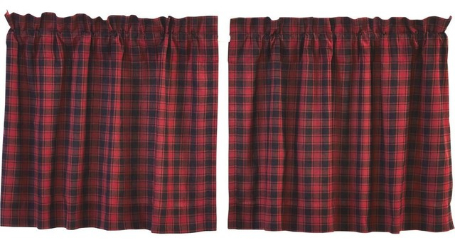 "Cumberland Tier Lined Curtains, Set Of 2, 24""x36"" Intended For Cumberland Tier Pair Rod Pocket Cotton Buffalo Check Kitchen Curtains (View 2 of 25)"