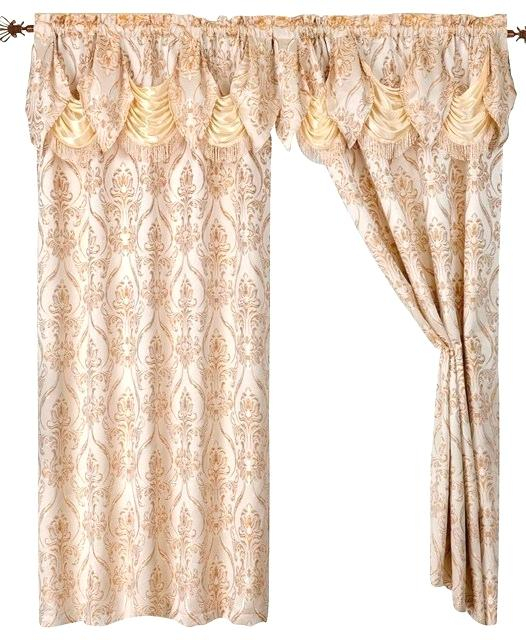 Curtain And Valance Set For Scroll Leaf 3 Piece Curtain Tier And Valance Sets (View 19 of 25)