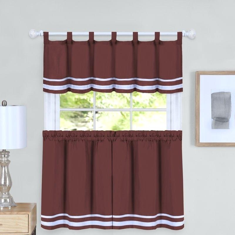 Curtain And Valance Set With Regard To Scroll Leaf 3 Piece Curtain Tier And Valance Sets (View 2 of 25)
