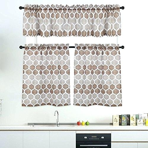 Curtain Sets With Valance – Mnkskin Pertaining To Kitchen Window Tier Sets (View 3 of 25)