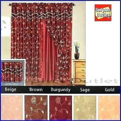 Curtain Sets With Valance – Mnkskin Regarding Luxury Collection Kitchen Tiers (View 18 of 25)