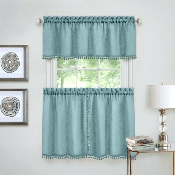 Curtain Tiers And Valances – Europeanschool Throughout Farmhouse Stripe Kitchen Tier Pairs (Image 7 of 25)
