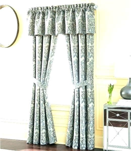 Curtain With Valance Curtain Valances At Walmart Shower Throughout Grandin Curtain Valances In Black (View 21 of 25)