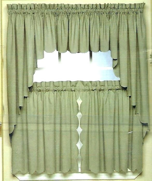 Curtains And Valances Lace Valances And Swags Scallop Edge In Floral Lace Rod Pocket Kitchen Curtain Valance And Tiers Sets (View 15 of 25)