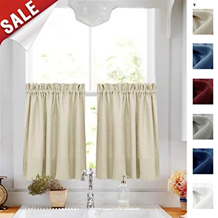 Curtains For Kitchen Window – Phandong Within Pintuck Kitchen Window Tiers (View 11 of 25)