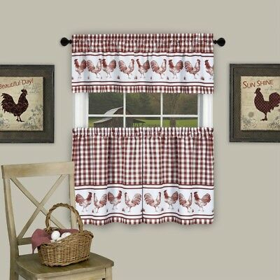 Dakota Window Curtain Tier Pair And Valance Set – 58X36 Pertaining To Dakota Window Curtain Tier Pair And Valance Sets (View 3 of 25)
