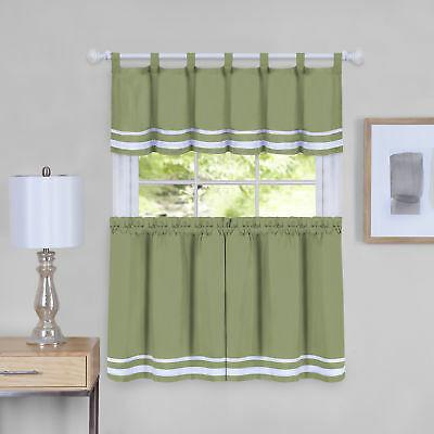 Dakota Window Curtain Tier Pair And Valance Set – 58X36 Regarding Hudson Pintuck Window Curtain Valances (Image 7 of 25)
