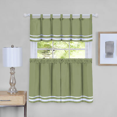 Dakota Window Curtain Tier Pair And Valance Set – 58X36 Throughout Forest Valance And Tier Pair Curtains (View 9 of 25)