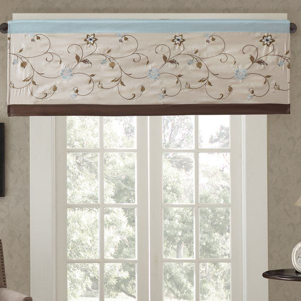 """Darby Home Co Brierwood Embroidered 50"""" Light Filtering Inside Light Filtering Kitchen Tiers (View 14 of 25)"""