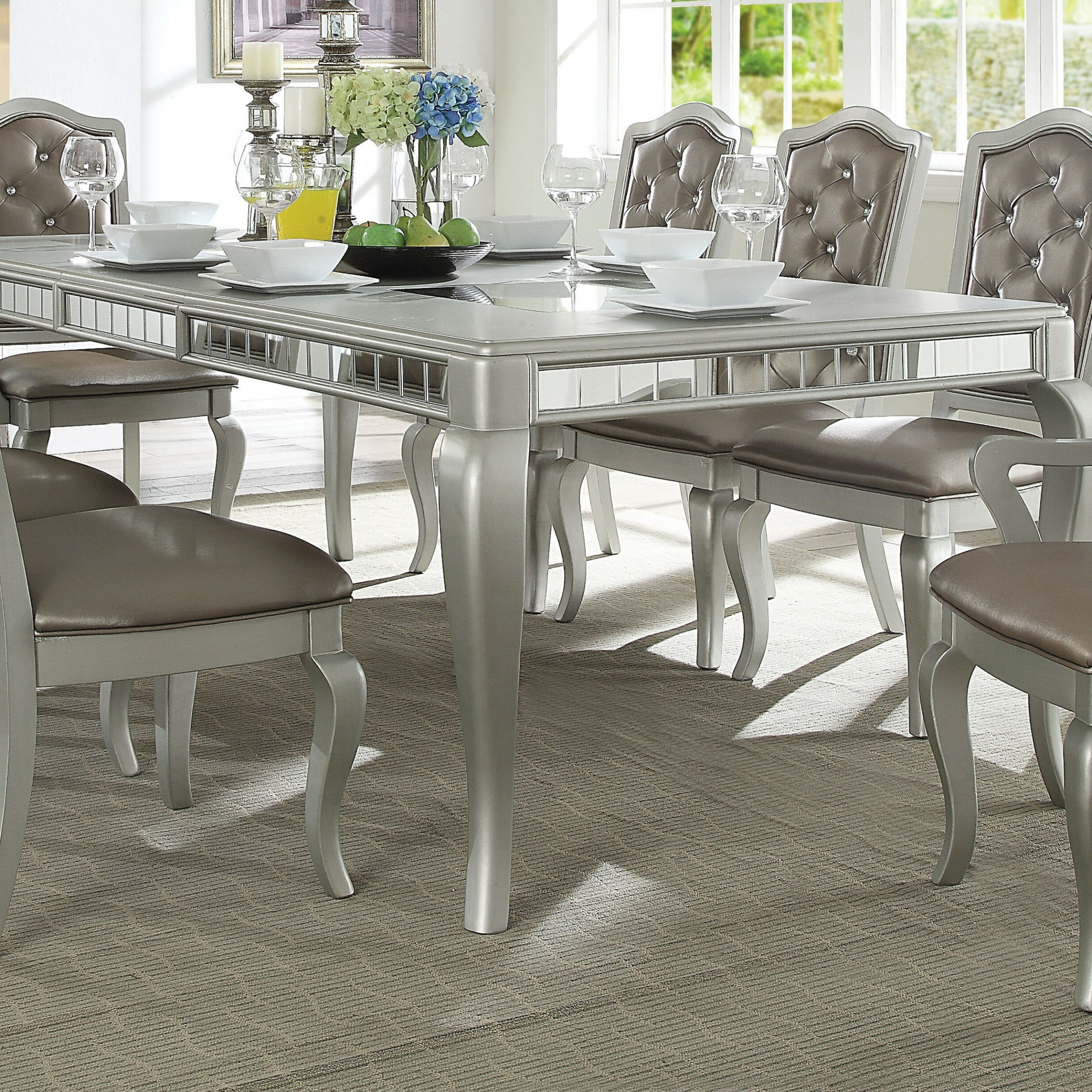 Dawson 9 Piece Extendable Dining Set Inside Most Current Dawson Pedestal Dining Tables (Image 6 of 25)