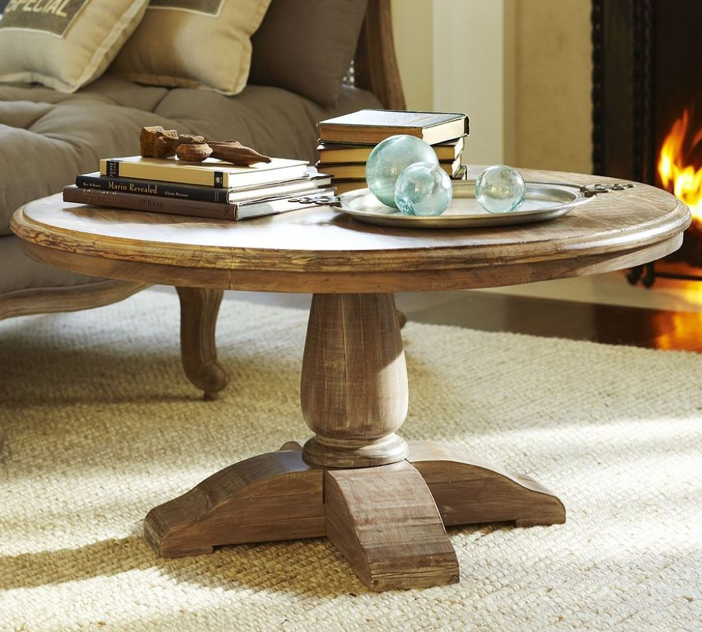 Dawson Round Pedestal Coffee Table | Home Furniture Ideas In With Current Dawson Pedestal Tables (View 6 of 25)