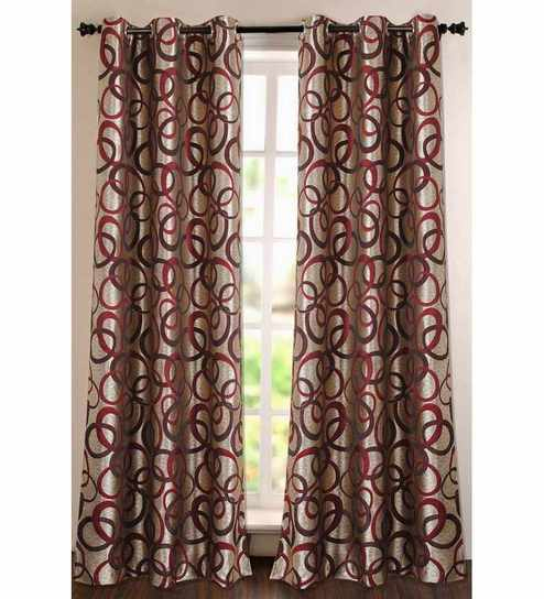 Deco Essential Purple Polyester Striped & Checkered 60 Inch Window Curtain – Set Of 1 Regarding Burgundy Cotton Blend Classic Checkered Decorative Window Curtains (View 19 of 25)
