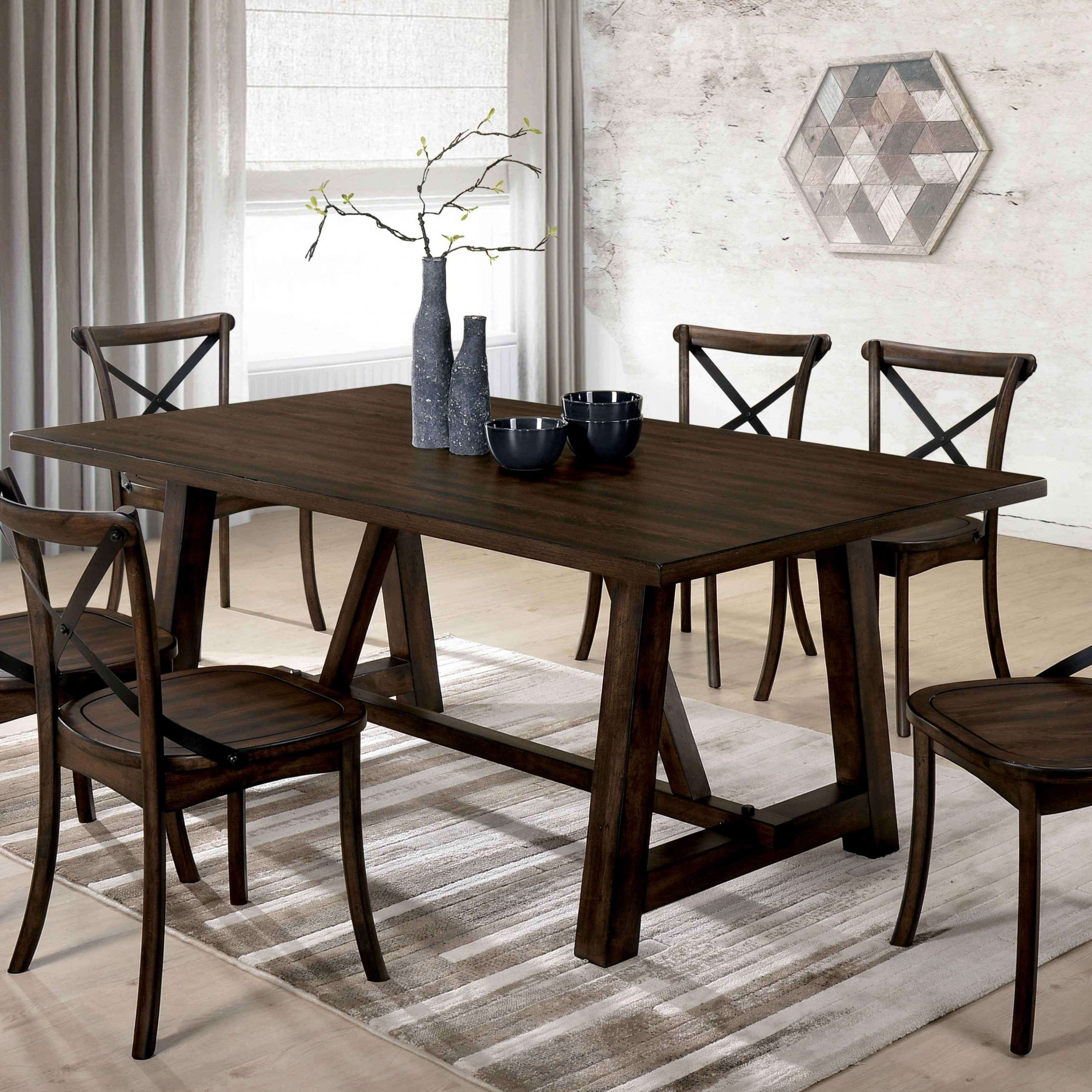 Delectable Furniture Lee Modern Farmhouse Dining Table Oak For Best And Newest Modern Farmhouse Extending Dining Tables (View 4 of 25)