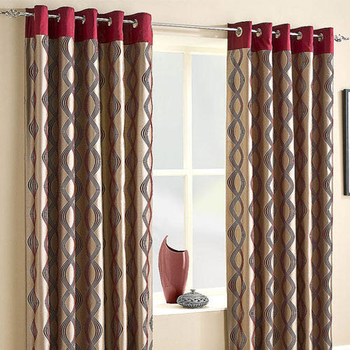 Designer Curtain – Viscose Curtain Exporters In India In Class Blue Cotton Blend Macrame Trimmed Decorative Window Curtains (View 25 of 25)