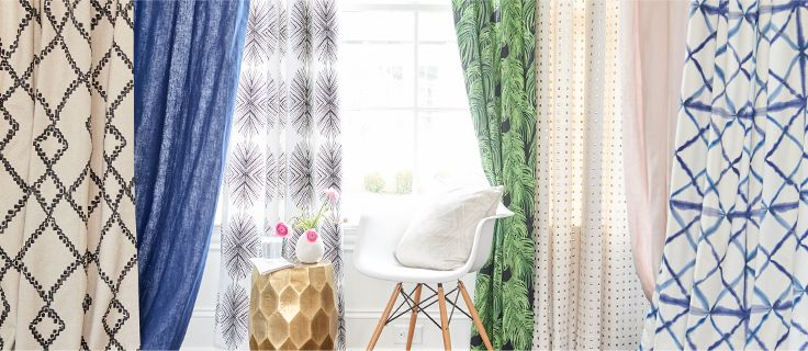 Designer Window Curtains, Custom Drapes & More | Loom Decor Throughout Vintage Sea Shore All Over Printed Window Curtains (Image 14 of 25)