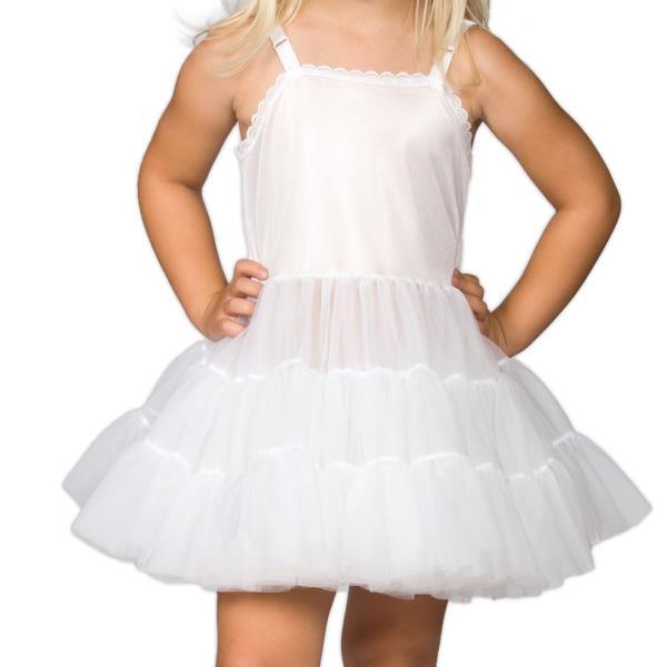 Details About Girls White Bouffant Full Slip Petticoat – Extra Full, (2T – 14) Regarding White Ruffled Sheer Petticoat Tier Pairs (View 11 of 25)