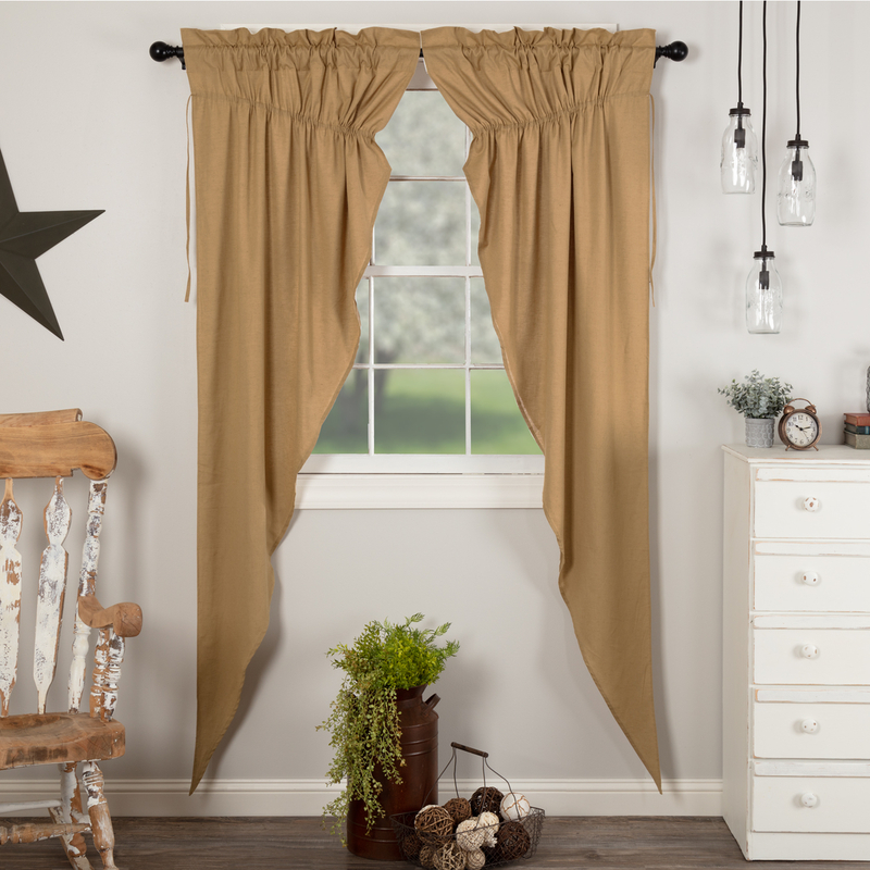 Details About Simple Life Flax Khaki Country Cottage Window Long Prairie Curtains For Simple Life Flax Tier Pairs (View 9 of 25)