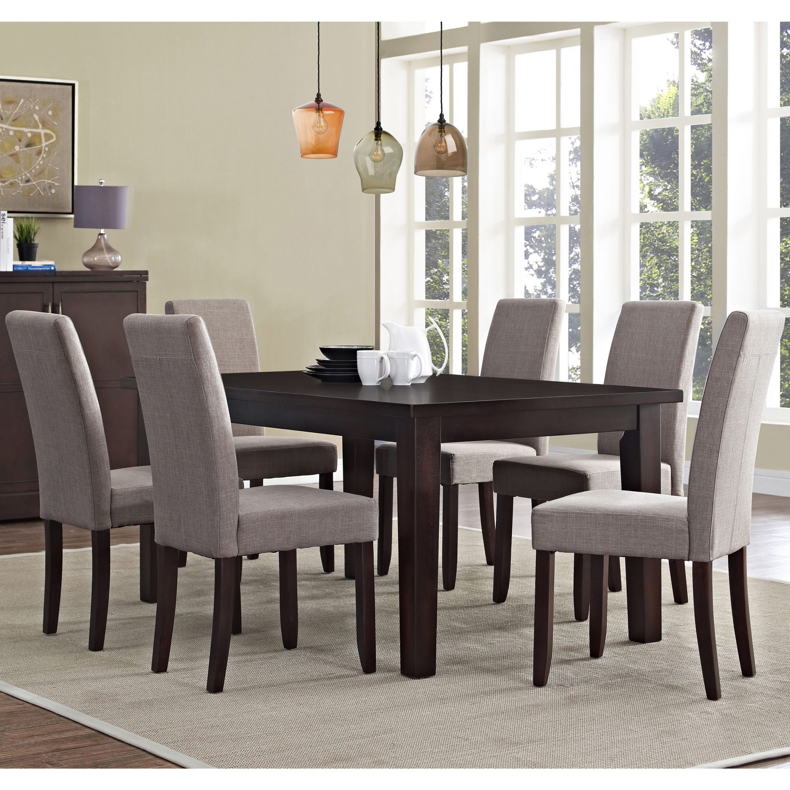 Dine In Sophisticated Style With This 7 Piece Wydenhall With Regard To Newest Normandy Extending Dining Tables (View 11 of 25)
