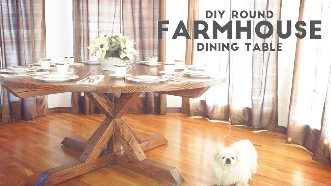 Dining Room Architectures Furniture Round Farmhouse Table For Newest Modern Farmhouse Extending Dining Tables (View 17 of 25)