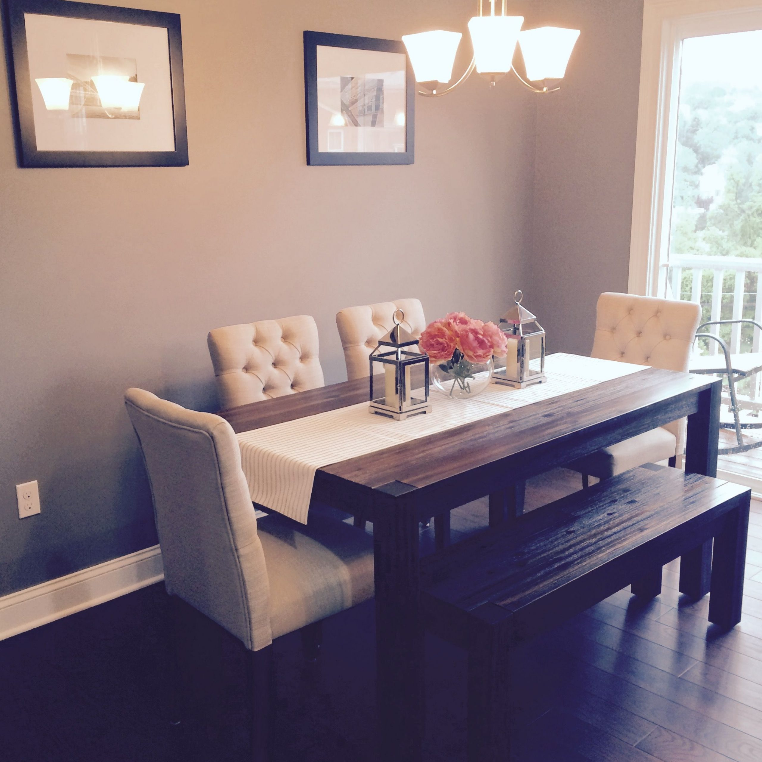 Dining Room: Avondale (Macy's) Table & Bench With Fabric For 2017 Avondale Dining Tables (View 12 of 25)