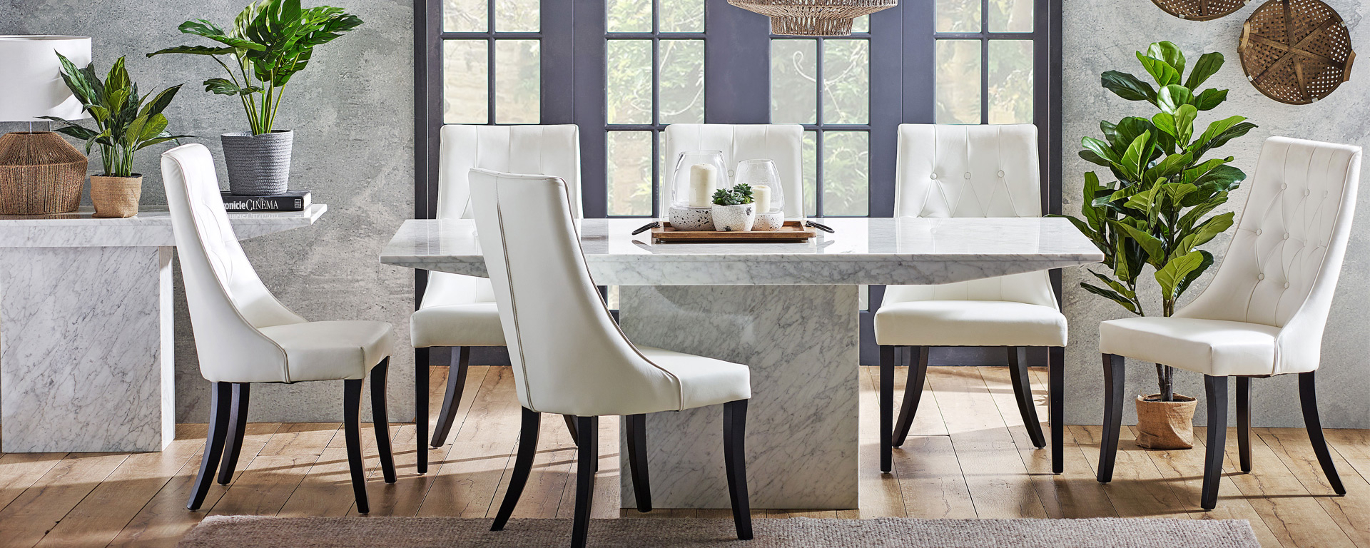 Dining Room Goals: 5 Trending Concrete And Stone Dining Intended For Most Popular Christie Round Marble Dining Tables (View 13 of 25)