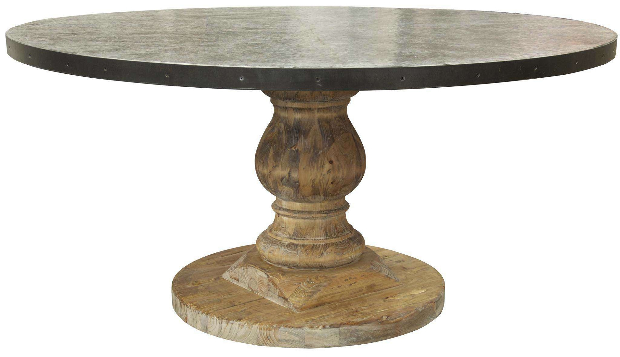 Dining Room: Round Pedestal Dining Table Beautifully Made With Most Popular Benchwright Round Pedestal Dining Tables (View 10 of 25)