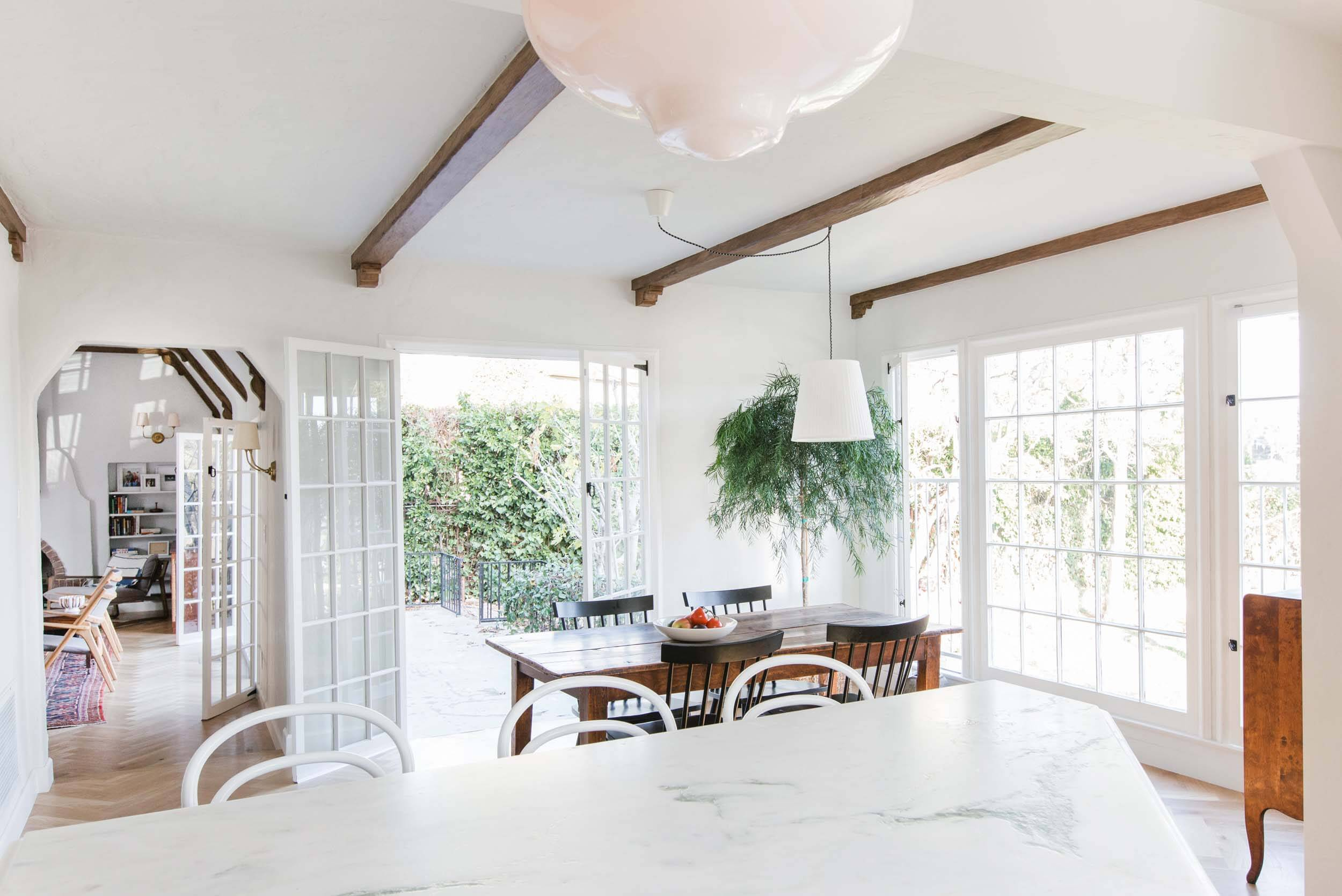 Dining Room Update With A Lot Of Questions – Emily Henderson Pertaining To Most Recently Released Black Olive Hart Reclaimed Pedestal Extending Dining Tables (View 23 of 25)