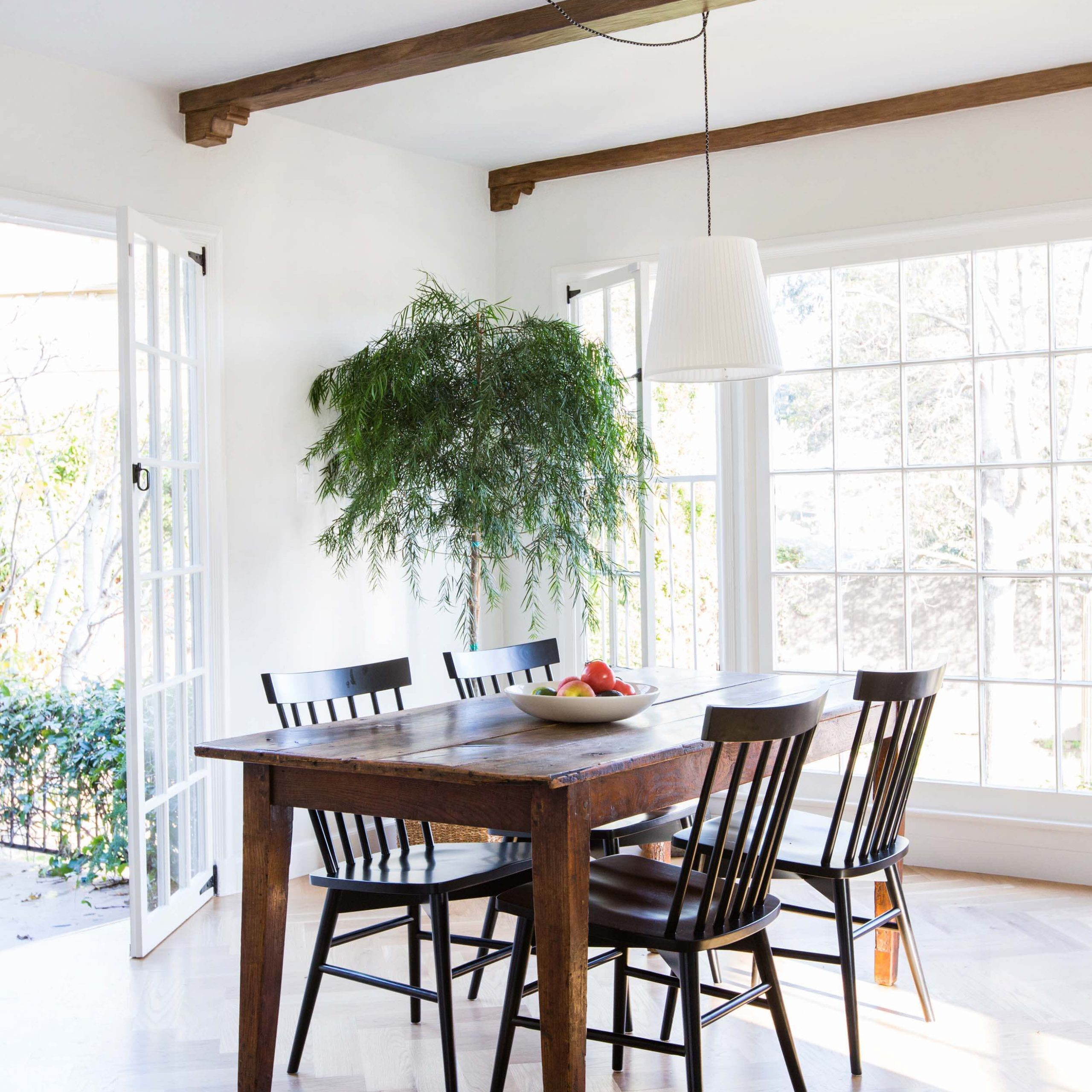 Dining Room Update With A Lot Of Questions – Emily Henderson Regarding Most Recently Released Black Olive Hart Reclaimed Pedestal Extending Dining Tables (View 20 of 25)