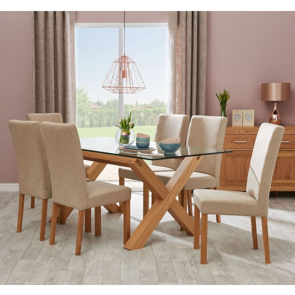 Dining Set With Upholstered Chairs – Crazymba (Image 17 of 25)