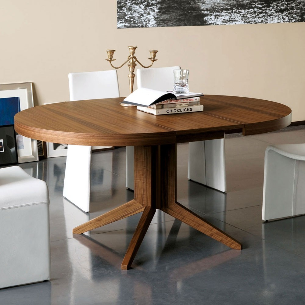 Dining Tables Amusing Round Dining Table Extendable Round Regarding Most Popular Benchwright Round Pedestal Dining Tables (View 15 of 25)