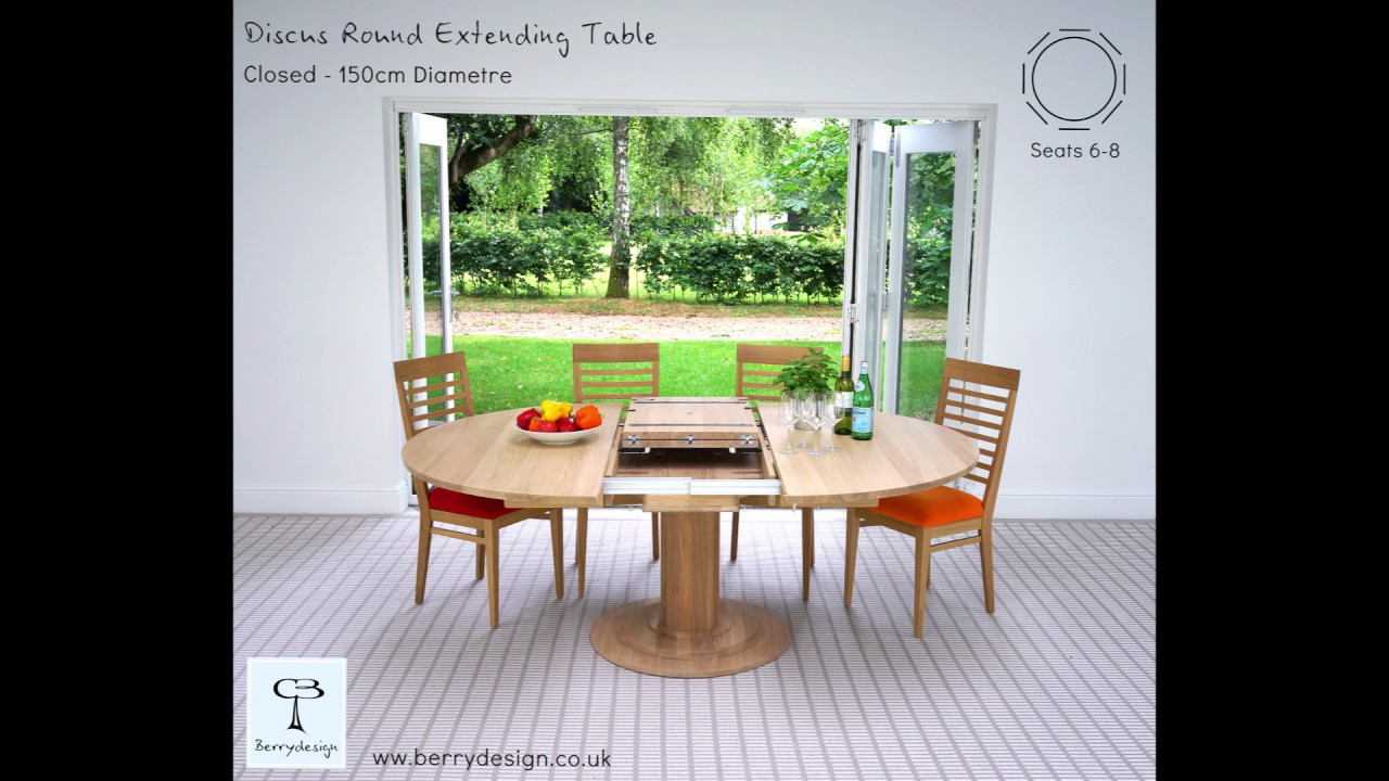 Discuss Round Extending Dining Table Inside Most Popular Hart Reclaimed Wood Extending Dining Tables (Image 4 of 25)