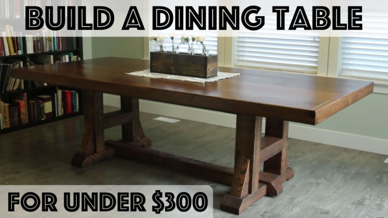Diy Dining Table: Pottery Barn Inspired Farmhouse Table For Most Popular Rustic Mahogany Benchwright Pedestal Extending Dining Tables (View 24 of 25)
