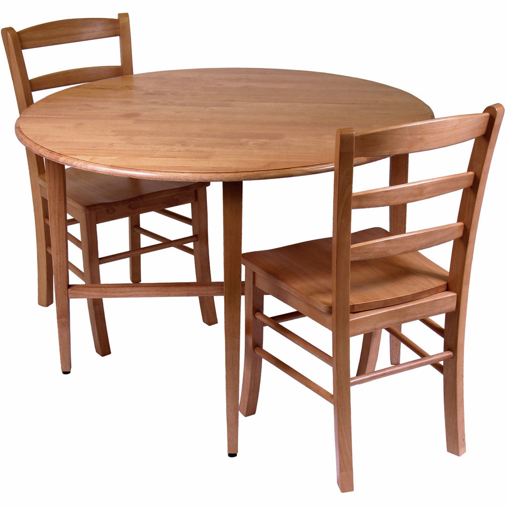 Drop Leaf Dining Table And Chairs (Set Of 3) In Dinette Sets With Regard To Most Up To Date Bismark Dining Tables (View 10 of 25)