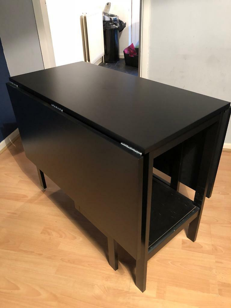 Drop Leaf Table Black – Martinique Regarding Most Recent Black Shayne Drop Leaf Kitchen Tables (View 15 of 25)