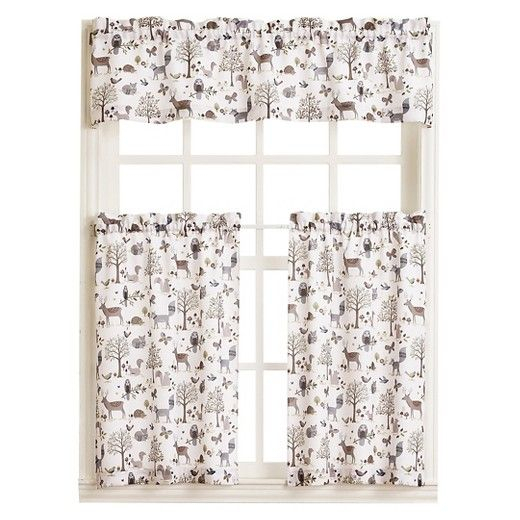 • 100% Polyester Construction<Br>• Garden Themed Throughout Forest Valance And Tier Pair Curtains (View 2 of 25)