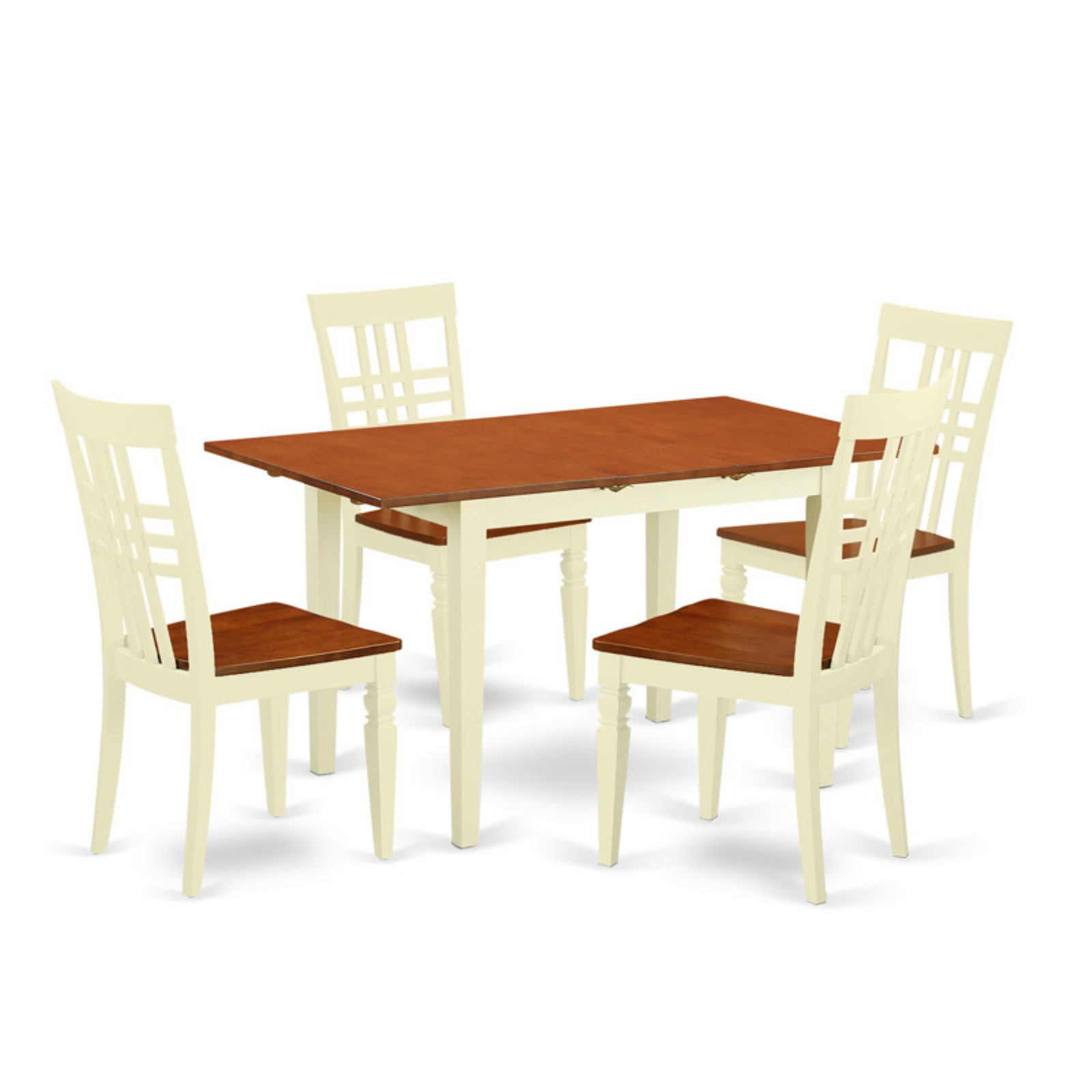 East West Furniture Norfolk 5 Piece Lattice Back Dining Table Set Pertaining To 2018 West Dining Tables (Image 9 of 25)