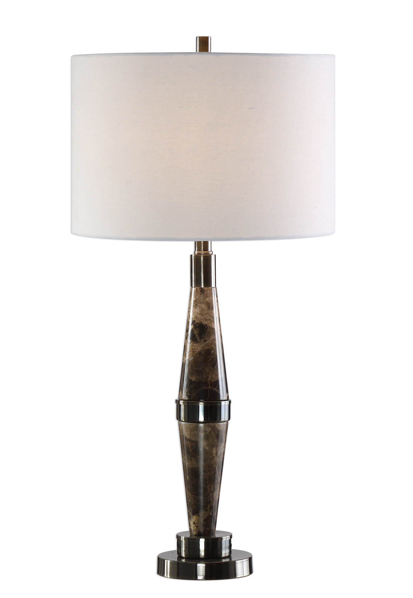 "Eben Marble 30"" Table Lamp Pertaining To Most Up To Date Rae Round Marble Bistro Tables (View 25 of 25)"