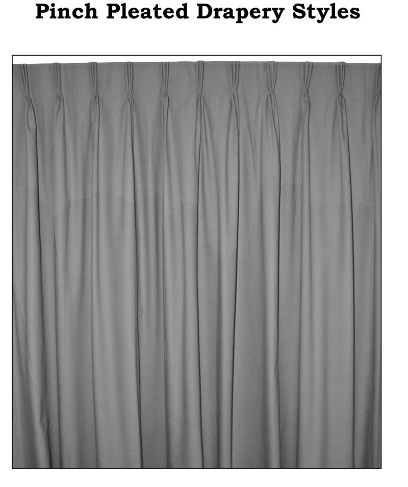 """Ec Group C Custom Pinch Pleated Curtain Pairs – 125"""" Wide Regarding Pleated Curtain Tiers (View 15 of 25)"""