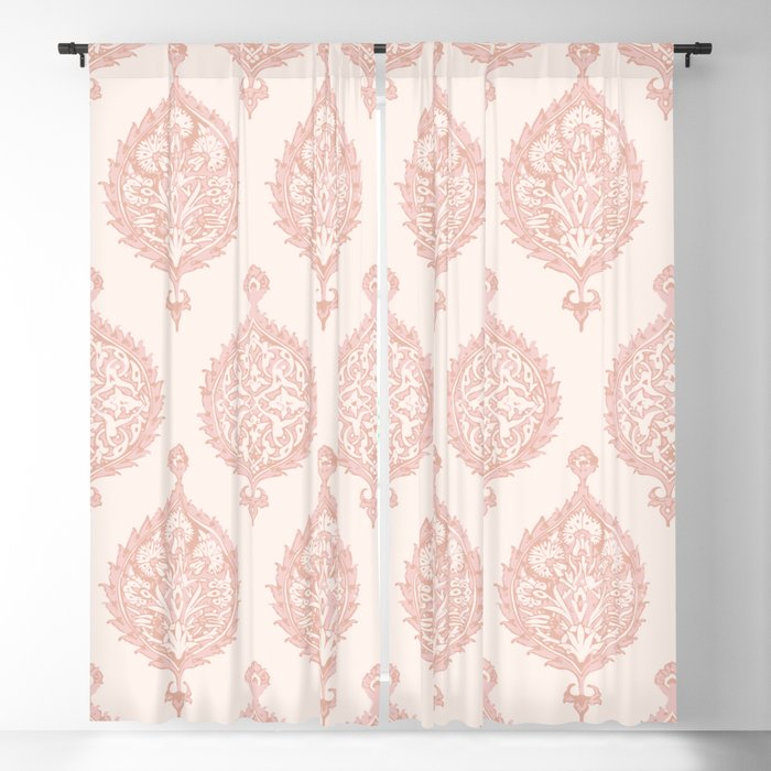 Edana Medallion In Pink Blackout Curtainbeckybailey1 Within Medallion Window Curtain Valances (View 25 of 25)