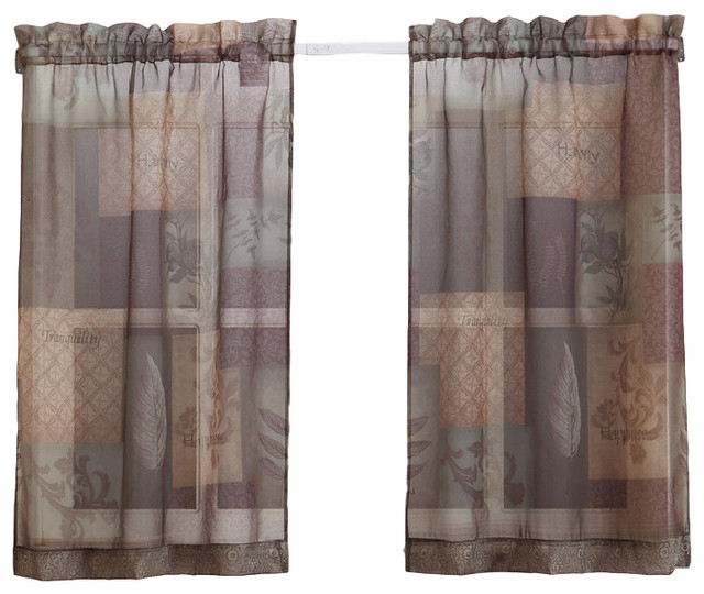 Eden Kitchen Tier Curtains, Sage Green, 56X24 In Tranquility Curtain Tier Pairs (View 23 of 25)