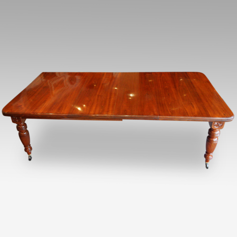 Edwardian Walnut Extending Dining Table | Hingstons Antiques For Newest Reed Extending Dining Tables (View 24 of 25)